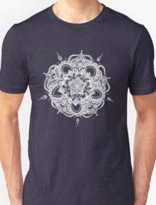 White and Gray Mandala Unisex T-Shirt