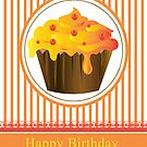 Cupcake Birthday Card Series of 6 No 3 by Moonlake