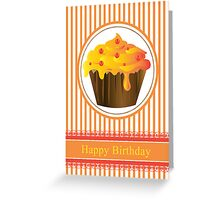 Cupcake Birthday Card Series of 6 No 3 Greeting Card