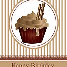 Coffee and Chocolate Cream Birthday Cupcake No5 by Moonlake