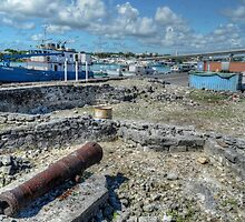 Historical Forts of Nassau: The remains of Bladen's Battery at Potter's Cay  by Jeremy Lavender Photography