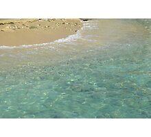 Clear ocean beach Photographic Print