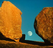 Moon from Enchanted Rock by eileenll512