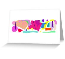 Magnifying Glass Small World Insects Greeting Card