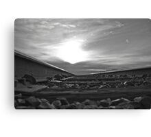 B&W into the sunset Canvas Print