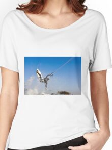 Kitesurfing in the Mediterranean sea  Women's Relaxed Fit T-Shirt