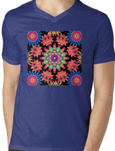 Piezoelectric Mandala Mens V-Neck T-Shirt