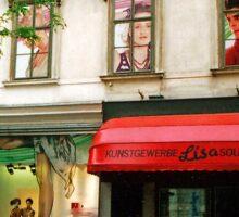 Shop Facade, Vienna, Austria (Panorama) Sticker