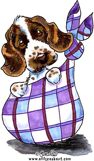 English Cocker Spaniel Sack Puppy by offleashart