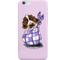 English Cocker Spaniel Sack Puppy iPhone Case/Skin