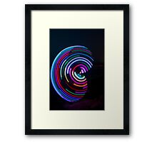 Psychedelic Hula Hoop at night  Framed Print
