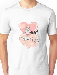 Deaf Pride Hearts Unisex T-Shirt