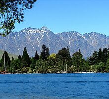 The Eyre Mountains from Lake Wakatipu.......New Zealand by Roy  Massicks