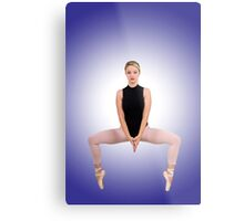 Female blond Ballet Dancer balances on her toes Metal Print