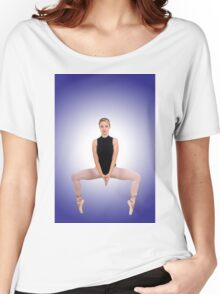 Female blond Ballet Dancer balances on her toes Women's Relaxed Fit T-Shirt