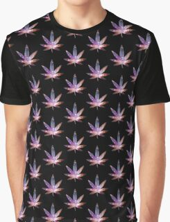 Cosmic Leaf Graphic T-Shirt