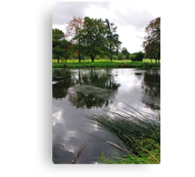 The Wind-swept River Trent, Stapenhill  Canvas Print