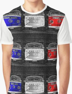 VW van French flag Graphic T-Shirt