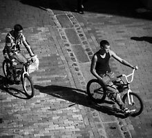 BMX Bikers by Ian Hufton