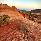 Evening over Orange Expanse - Moab, Utah, USA by Sean Farrow