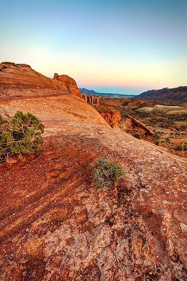 Evening over Orange Expanse - Moab, Utah, USA by Sean Farrow