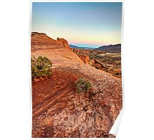 Evening over Orange Expanse - Moab, Utah, USA Poster