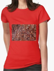 LEOPARD SKIN Womens Fitted T-Shirt