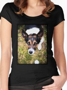 Jessie the Jack Russell Terrier: It's All About the Ball Women's Fitted Scoop T-Shirt