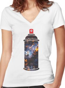 Cosmic Graffiti Women's Fitted V-Neck T-Shirt
