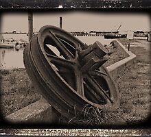 Rusty Wheel by tvlgoddess