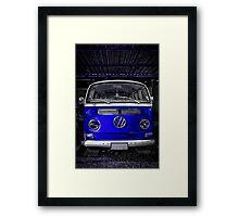 Blue combi Volkswagen Framed Print
