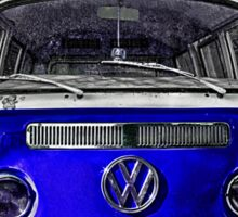 Blue combi Volkswagen Sticker