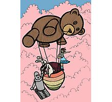 Teddy Bear And Bunny - Cotton Candy Clouds Photographic Print