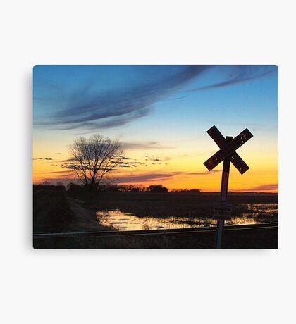 Twilight Crossing Canvas Print