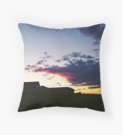 Prairie Parish Throw Pillow