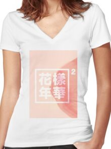 BTS/Bangtan Sonyeondan - The Most Beautiful Moment In Life Part 2 Women's Fitted V-Neck T-Shirt