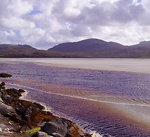 Harris Seascape with Rocks, Ripples and Reflections by MidnightMelody