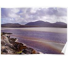 Harris Seascape with Rocks, Ripples and Reflections Poster