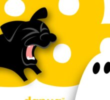 Black Pug BARKING Boo! Sticker