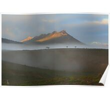 Morning Fog Flinders Ranges Poster