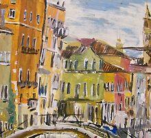 Venice Street Scene by Debbie Douglass
