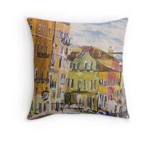 Venice Street Scene Throw Pillow