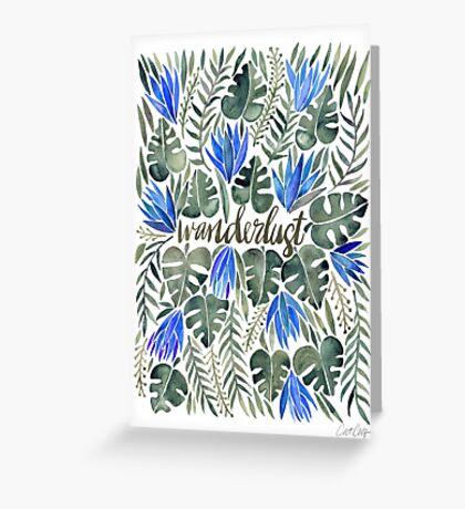 Tropical Wanderlust – Periwinkle Greeting Card
