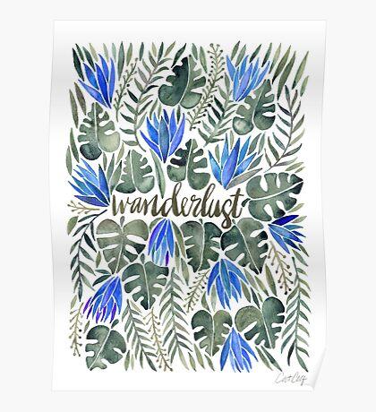 Tropical Wanderlust – Periwinkle Poster