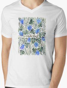 Tropical Wanderlust – Periwinkle Mens V-Neck T-Shirt
