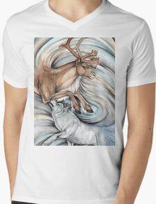 The Hunter and Hunted Mens V-Neck T-Shirt
