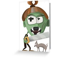 Zombie with Saw Greeting Card