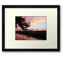BANNERS OF LEMON LIGHT - SUNSET ON ECONFINA CREEK Framed Print