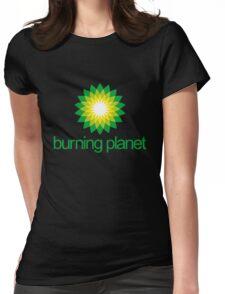 BP - Burning Planet (dark) Womens Fitted T-Shirt