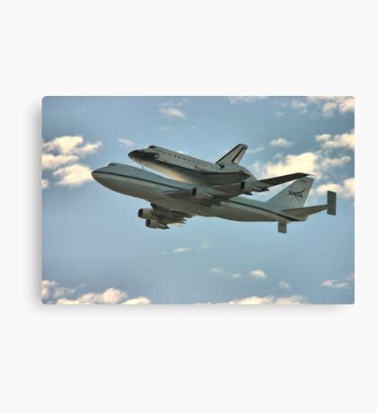 Space Shuttle Flyover Canvas Print